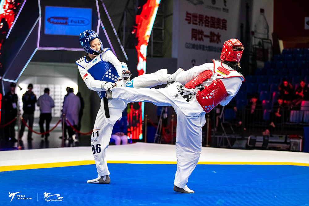 Day 1 competition picture of Wuxi 2018 WT Grand Slam Champions Series