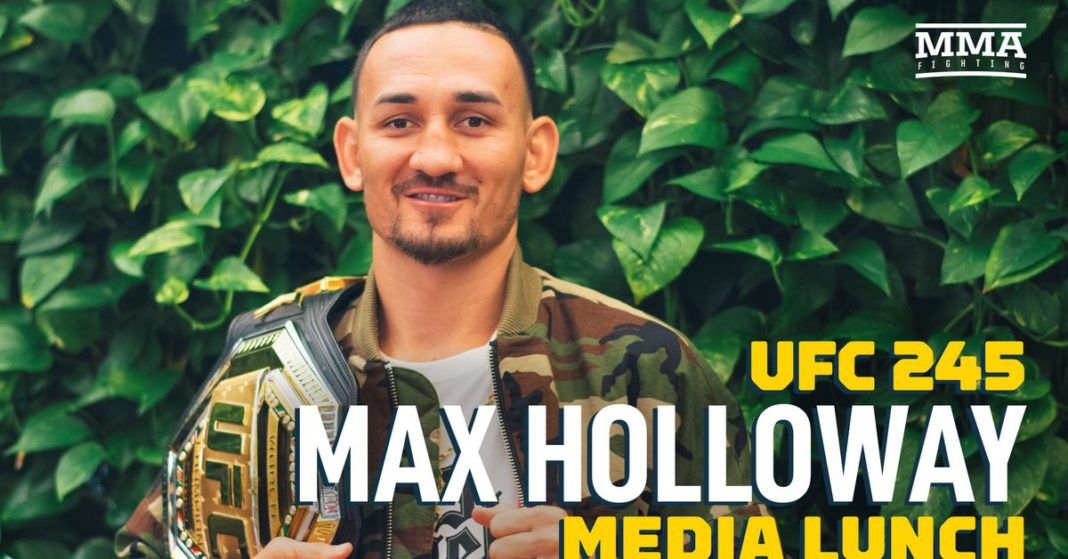 , Video: Max Holloway UFC 245 media almuerzo scrum, Noticia Sport, Noticia Sport