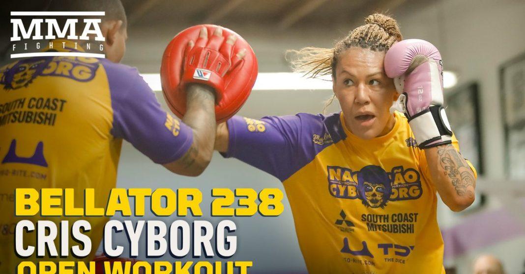 , Video: Cris Cyborg abre ejercicio en Bellator 238 Media Day, Noticia Sport, Noticia Sport