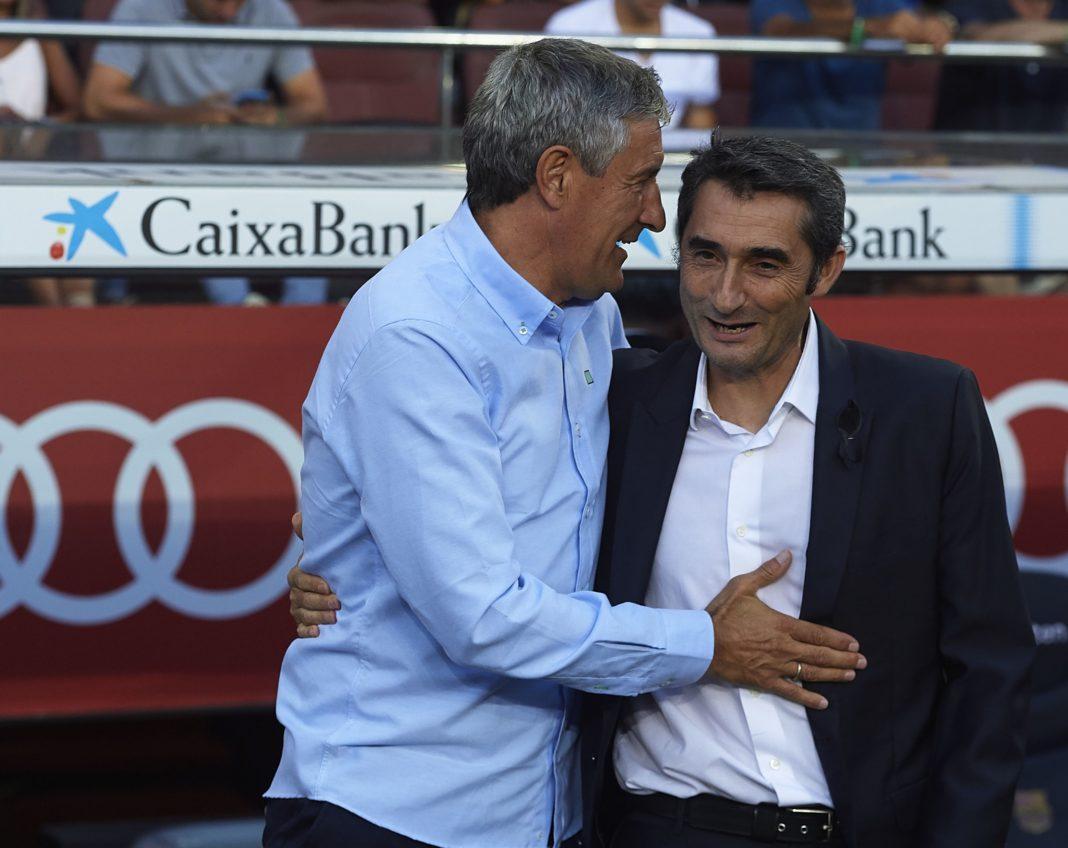 El saco barcelonés Ernesto Valverde, nombra a Quique Setien