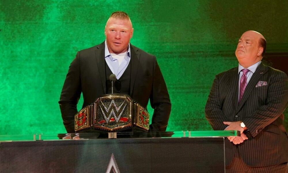 La reserva de WWE Brock Lesnar en el estruendo real de los hombres puede llevar a su oponente de WrestleMania