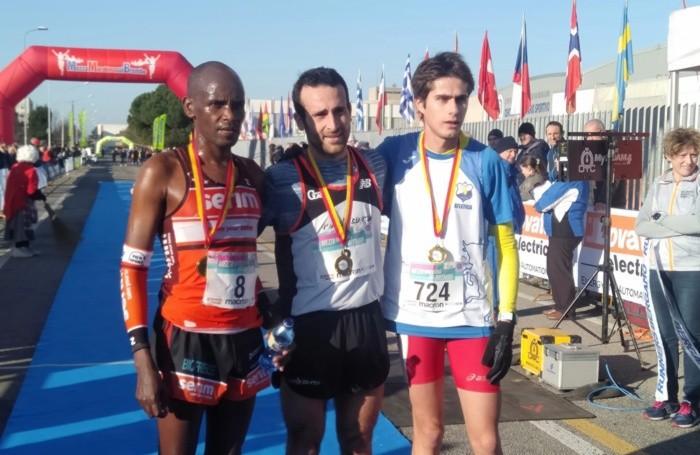 Medio maratón Brembo, tirante azul con Zenoni y Palamini