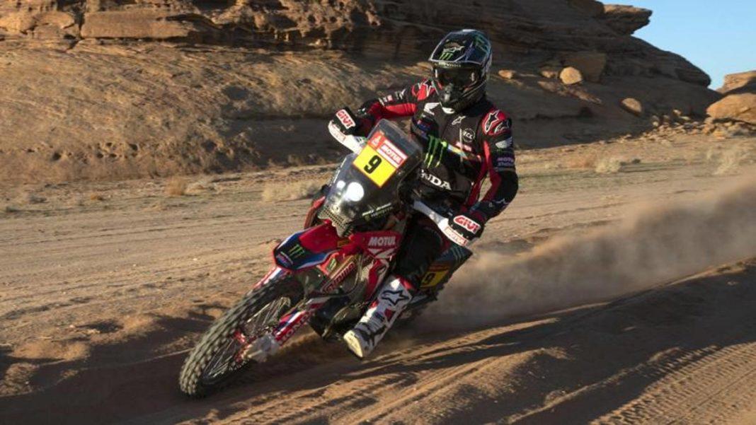 Moto Dakar, doble golpe de Brabec: gana la sexta etapa y se estira