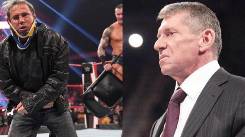 Horas antes del espectáculo, Vince McMahon cambió los planes de WWE Raw para Matt Hardy y Randy Orton