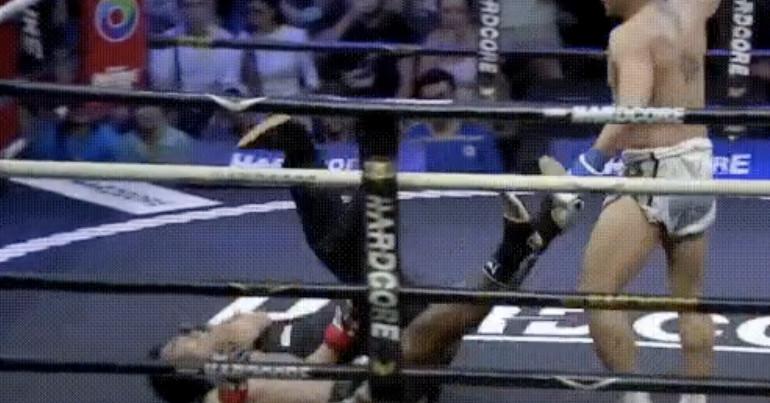 , Video: Knockout Muay Thai y Árbitro sobre lienzo, Noticia Sport, Noticia Sport