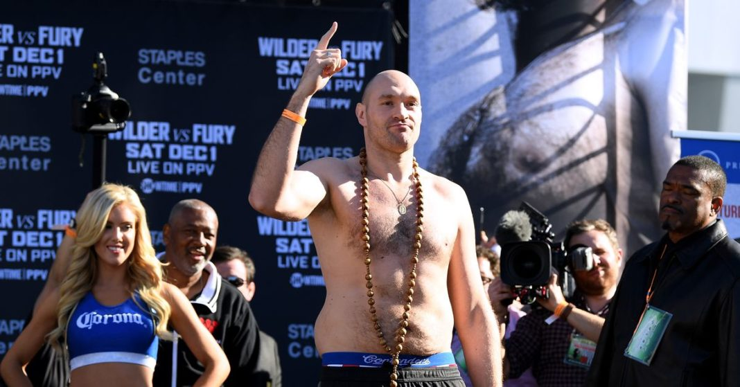Video grabado de Wilder vs. Fury 2