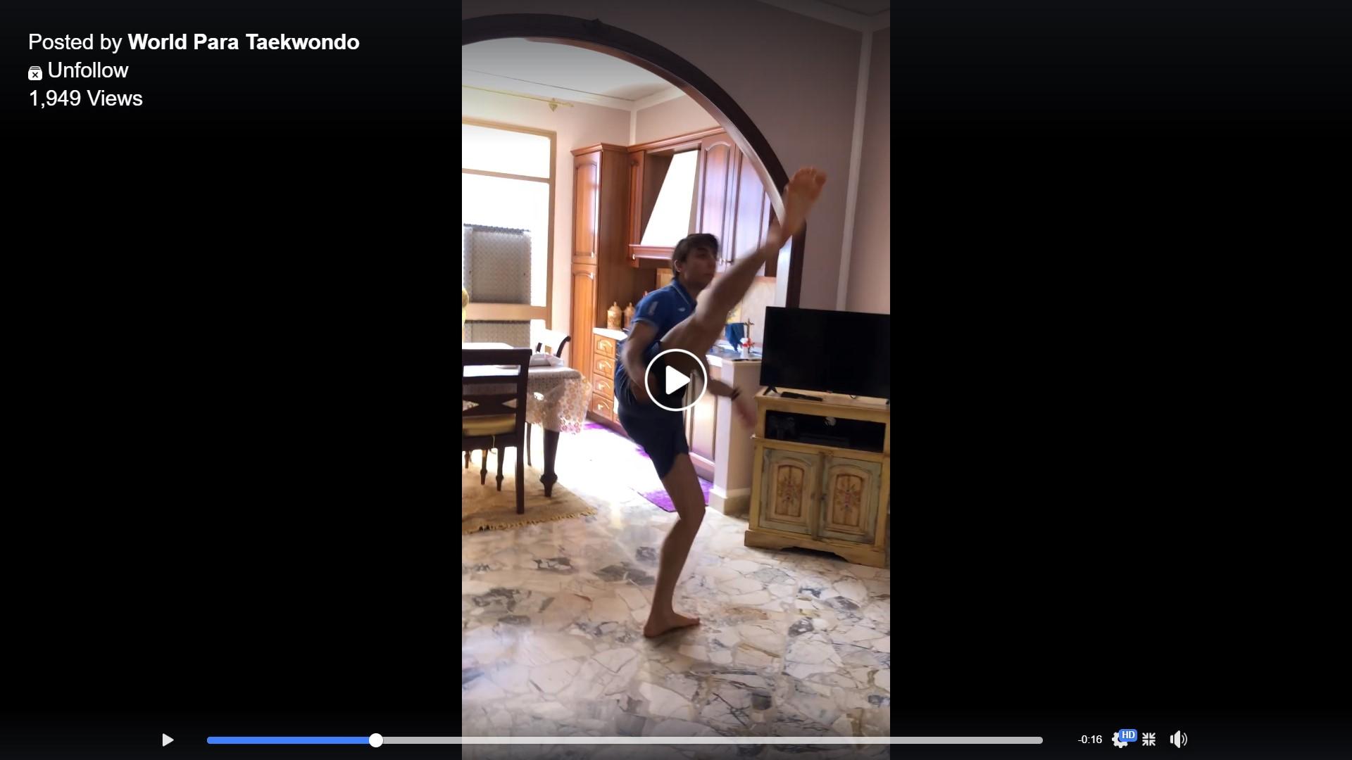 , Los atletas de Para Taekwondo están #KickingItAtHome, Noticia Sport