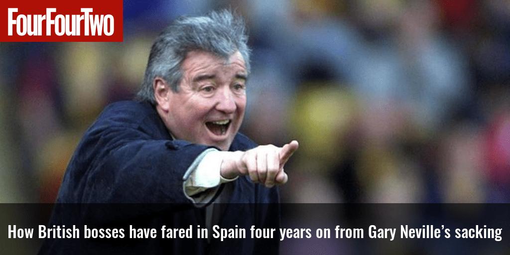 Cómo les fue a los jefes británicos en España cuatro años después del despido de Gary Neville