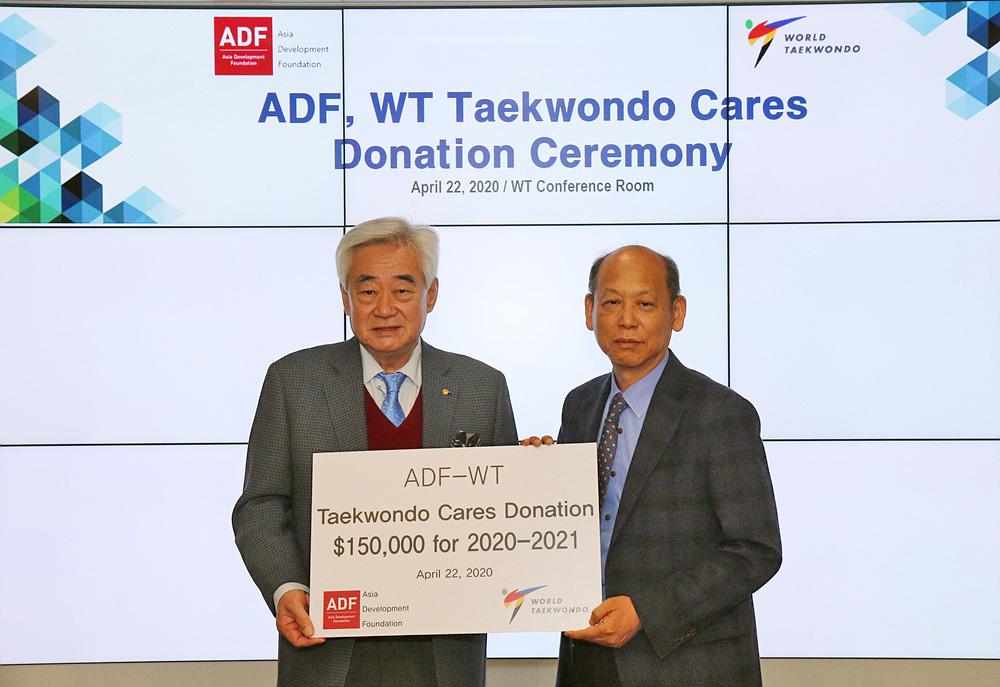 , ADF firma memorando de entendimiento con WT en el programa Taekwondo Cares, entrega $ 150,000 en donación, Noticia Sport, Noticia Sport