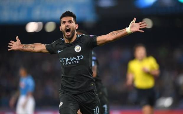 Sergio Aguero, 31 anni, attaccante del Manchester City con cui ha vinto 4 volte la Premier AFP