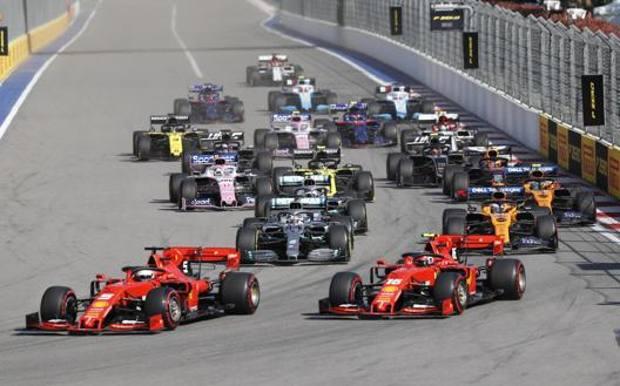 Il via del GP di Russia 2019. Epa
