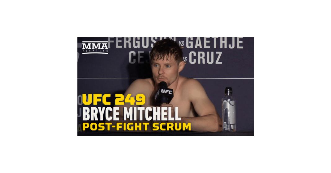 Video: Bryce Mitchell dijo que espera obtener el coronavirus
