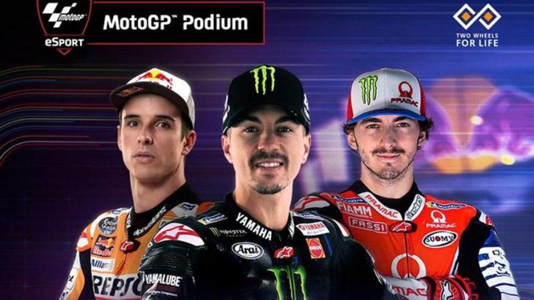 Virtual MotoGP, la tercera carrera está firmada por Viñales. Bagnaia tercero con remordimientos