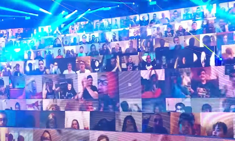 Fans virtuales muestran imágenes del rally de KKK al final de WWE Raw