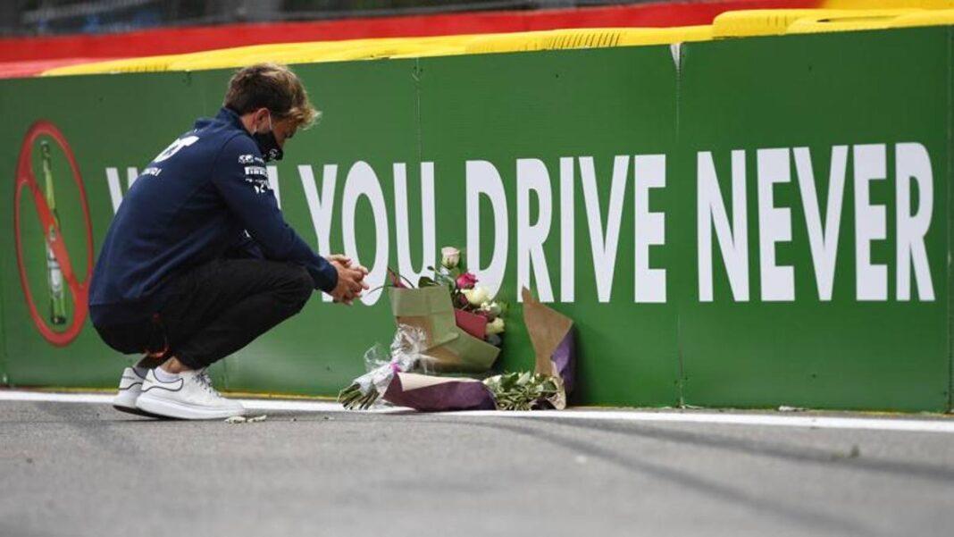 Hubert murió, el número 19 retirado y las barreras reforzadas