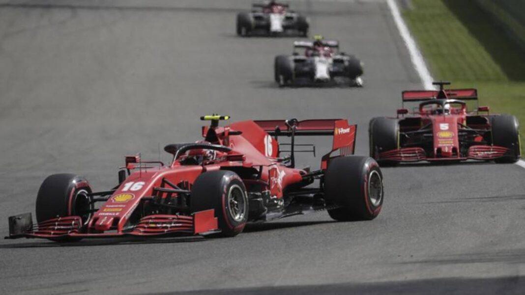 Rueda: 'La estrategia de Ferrari es buena para Leclerc, consumo anormal de aire'