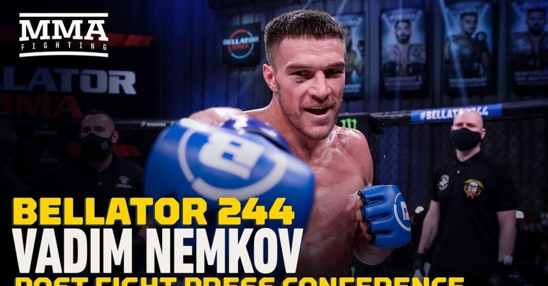 Video: Vadim Nemkov (Vadim Nemkov) predice la primera batalla por el campeonato de Phil Davis (Phil Davis) y Machida (Lyoto Machida 2)