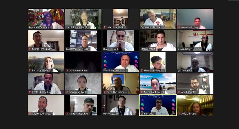 , El entrenamiento virtual de los 50 mejores árbitros internacionales de WT para los Juegos Paralímpicos de Tokio 2020, Noticia Sport