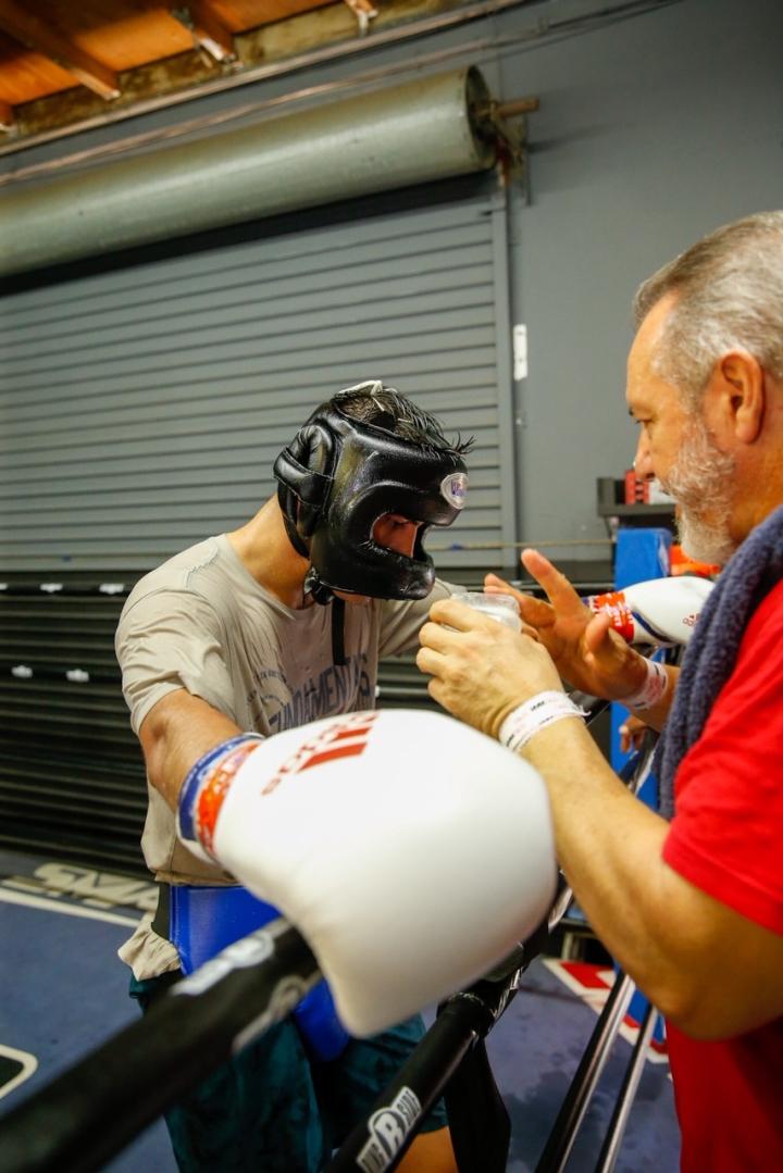 , Fotos: Daniel Roman trabajando para el eliminador del WBC de Payano, Noticia Sport