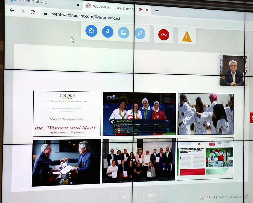, El presidente mundial de Taekwondo pronuncia un poderoso discurso sobre el taekwondo por la paz en SportWorks Talks, Noticia Sport