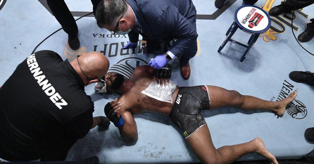 Foto: Tyron Woodley se fracturó los huesos durante la derrota de UFC Vegas 11 ante Colby Covington