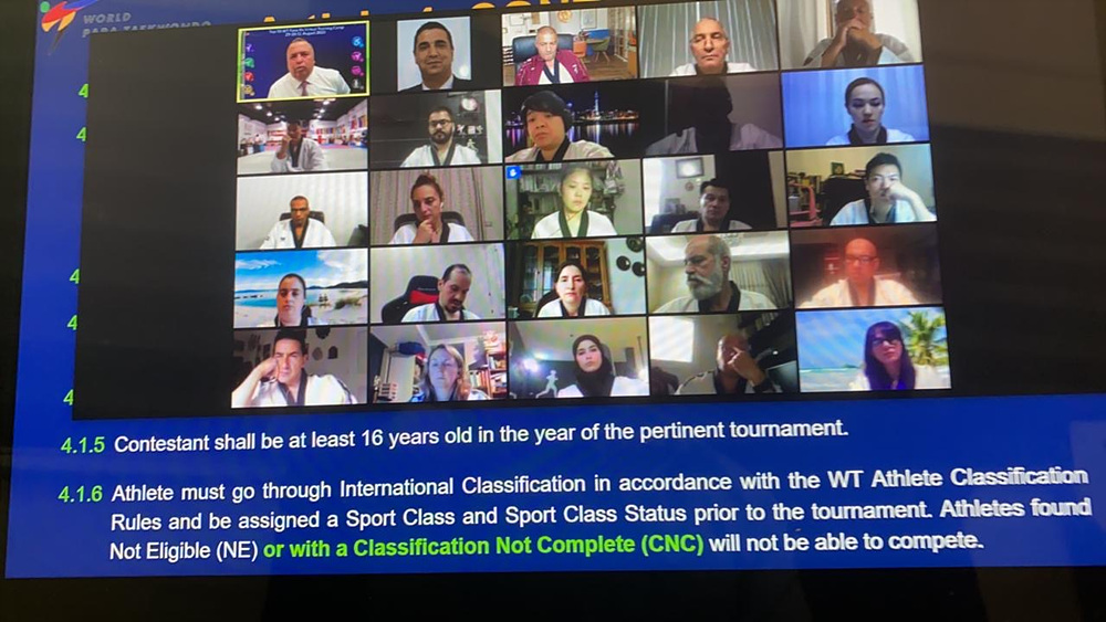 Virtual Training of Top 50 WT International Referees for Tokyo 2020 Paralympic_Photo 3