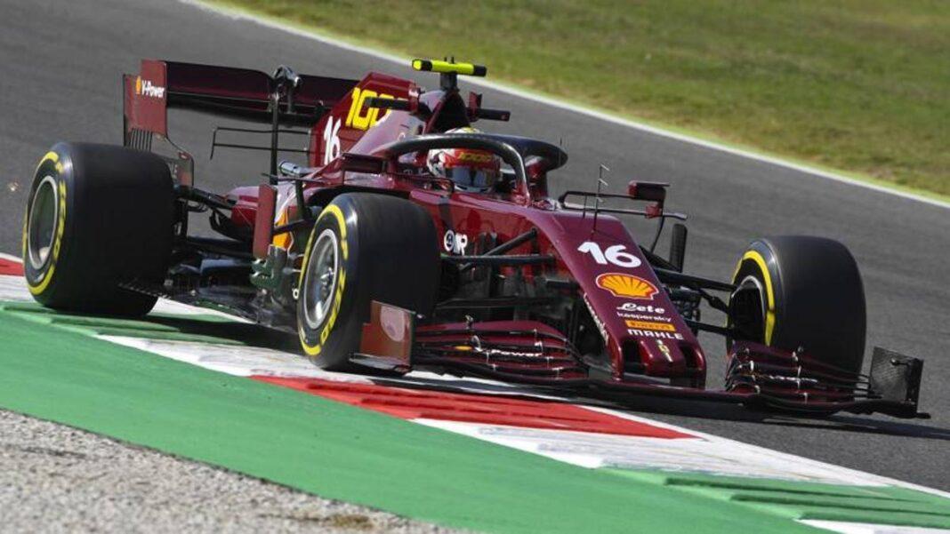 F1, GP de Toscana, Bottas vuela inmediatamente.  Luego Verstappen y el Ferrari de Leclerc