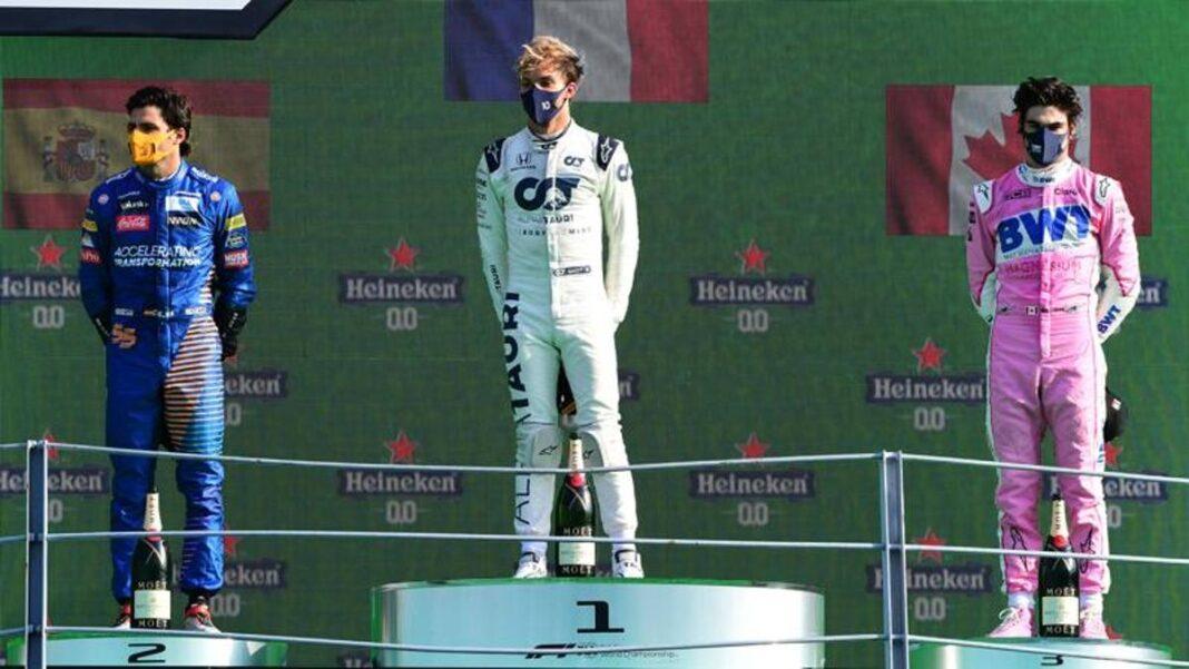 GP de Monza, boleta de calificaciones: Gasly el mejor (9), Sainz y Hamilton buenos.  Desastre de Ferrari (3)