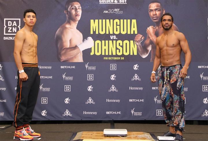 , Fotos: Jaime Munguia, Tureano Johnson – Listos para el enfrentamiento, Noticia Sport
