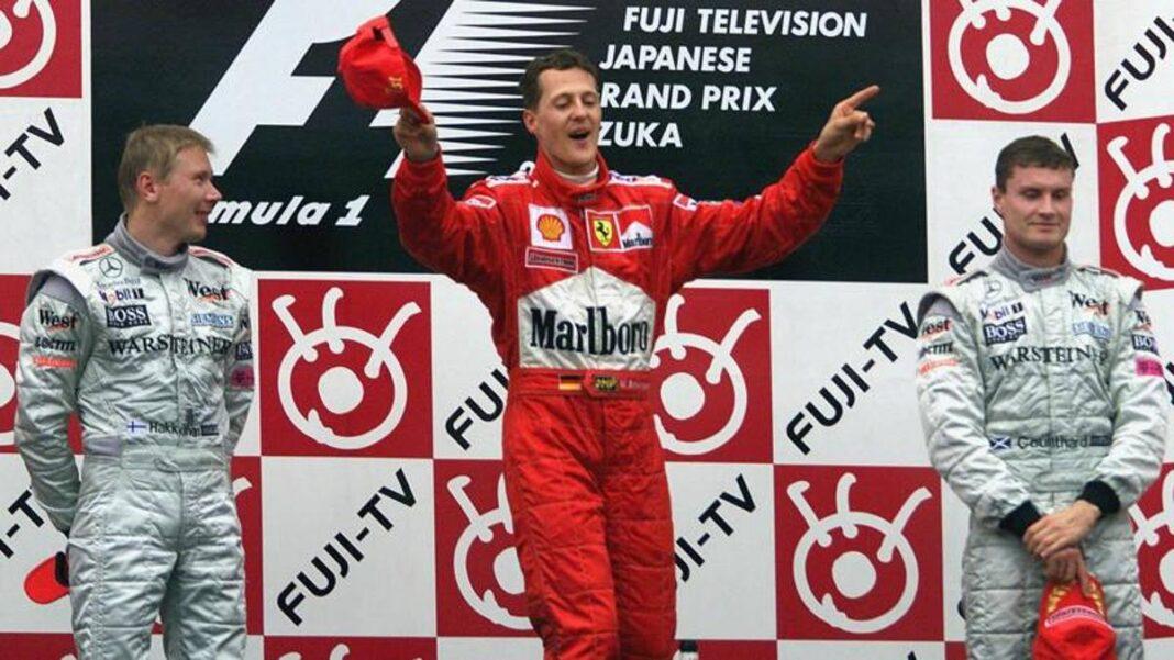 Schumacher, el primer título de Michael en Ferrari hace 20 años: ahora Mick está en la pista