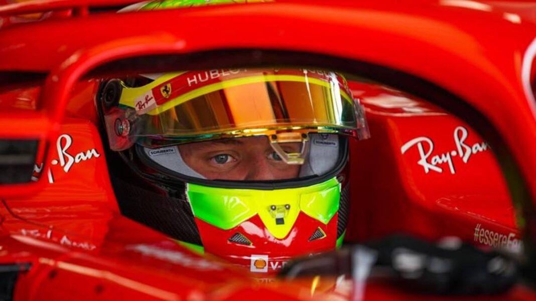 Schumacher jr y los talentos de la Academia en Fiorano en un Ferrari 2018