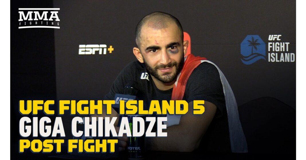 Video: Giga Chikadze se lleva el campeonato UFC Fight Island 5 del campo de entrenamiento de Mike Tyson
