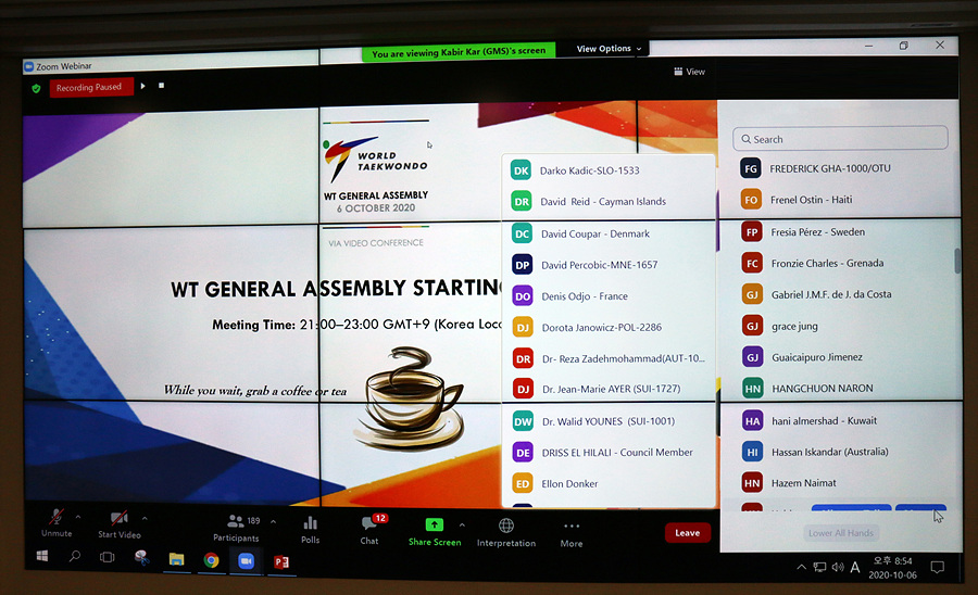 Virtual WT General Assembly on October 6