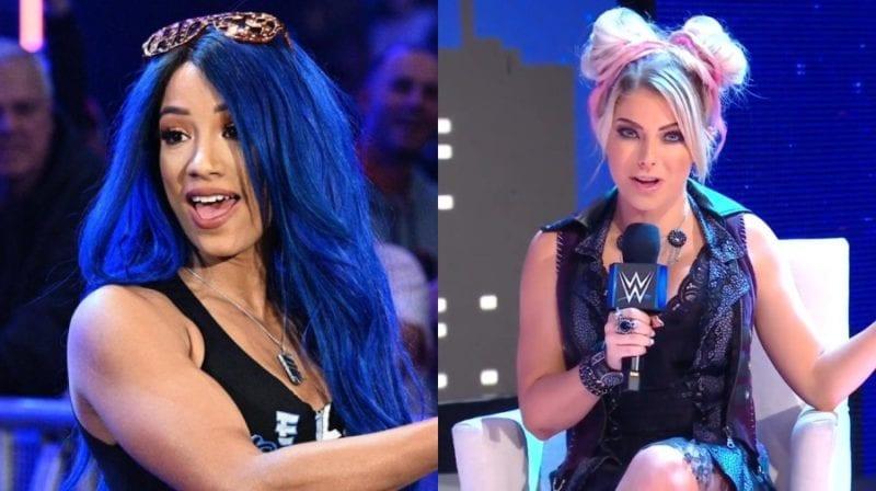 El calor entre bastidores entre Sasha Banks y Alexa Bliss parece haber terminado