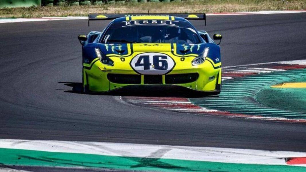 Rossi en Misano con el Ferrari 488 GT3, de cara a las 12 Horas del Golfo