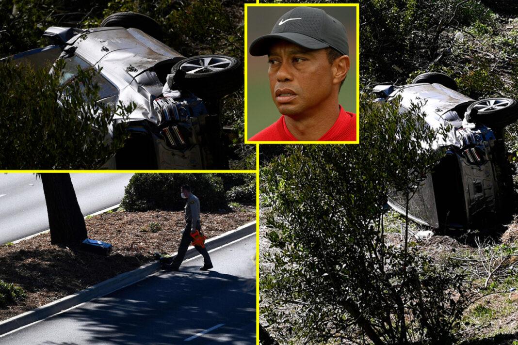 Tiger Woods 'despierto y receptivo' en el hospital con la leyenda del golf 'afortunado de estar vivo' después de sufrir lesiones 'significativas' en las piernas en un accidente automovilístico