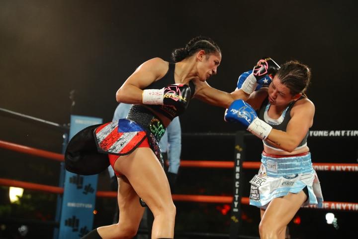 Fotos: Amanda Serrano se quita a Daniela Bermúdez en nueve rondas