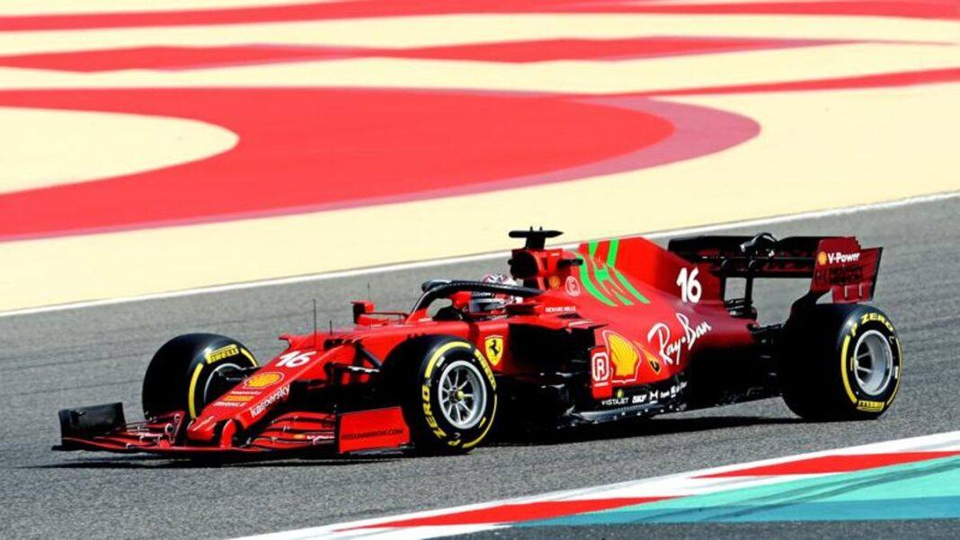 El Ferrari SF21 sale a la pista: Leclerc conduciendo para el día del rodaje
