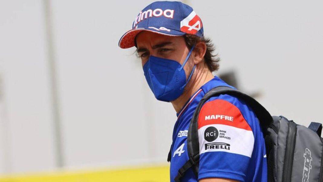 F1 Bahrein 2021, así Alonso (Alpine) y Vettel (Aston Martin) en la rueda de prensa