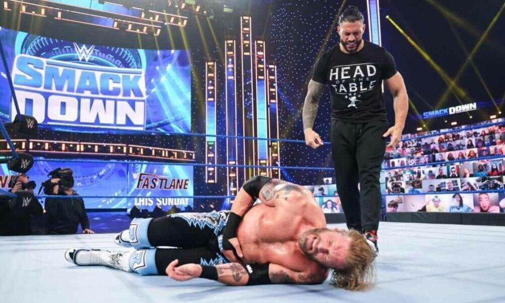 La calificación nocturna de WWE Friday Night SmackDown para el evento principal de Edge cae