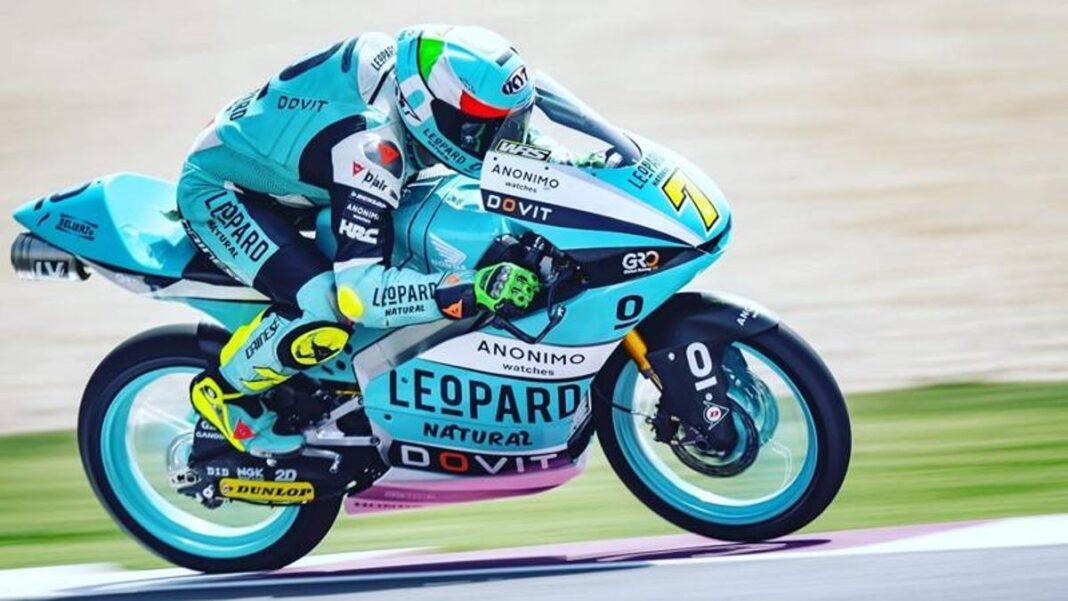 Prueba de Losail: Foggia y Migno a la cabeza en Moto3, Bezzecchi bien en Moto2