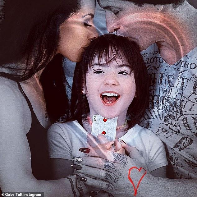 Familia: habló sobre su papel como madre y esposa en sus publicaciones el martes y miércoles, y compartió fotos con su esposa Priscilla, de 18 años, y su hija Mia (9 años).