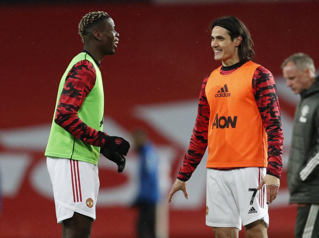 Paul Pogba quiere que Edinson Cavani permanezca una temporada más en el Manchester United