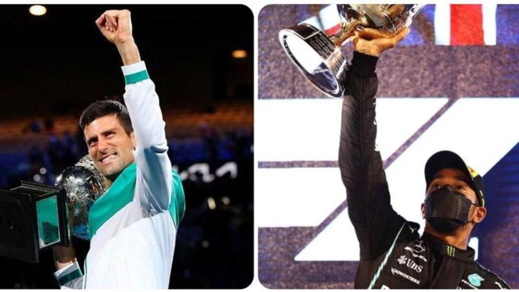 F1, el tenista Lewis Hamilton y la respuesta en broma de Novak Djokovic