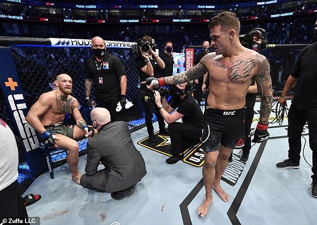 Después de la disputa de Twitter, la buena voluntad entre Conor McGregor (izquierda) y Dustin Poirier (derecha) ha desaparecido.