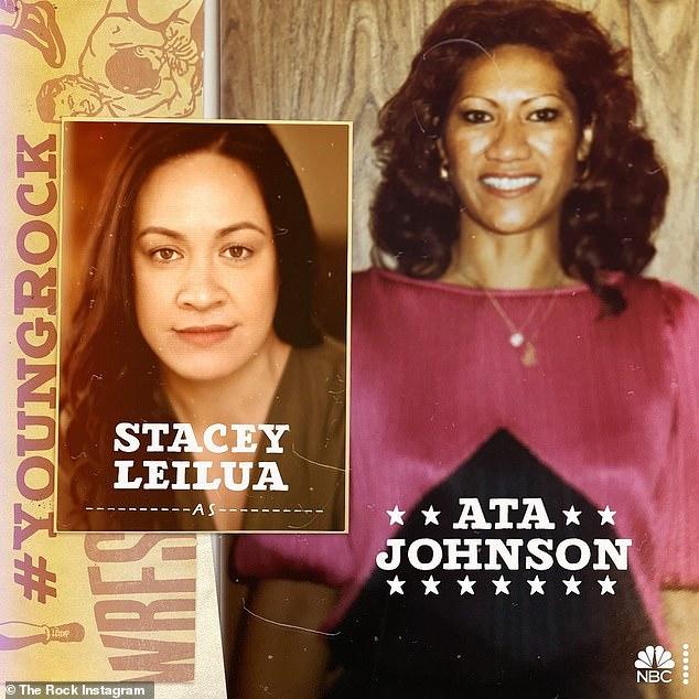 Amada mamá: En su Twitter, también mostró a la actriz Stacey Leilua (Stacey Leilua), quien fue interpretada como la madre Ata Johnson y Joseph Lee Anderson (Joseph Lee) Anderson), interpretará al difunto padre.