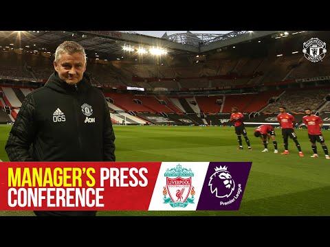 Rueda de prensa del gerente |  Manchester United v Liverpool |  Ole Gunnar Solskjaer |  Liga Premier