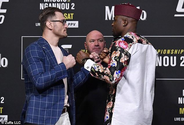 Desde la pelea de Ngannou, Miocic (izquierda) solo ha perdido una vez y ha recuperado el campeonato.