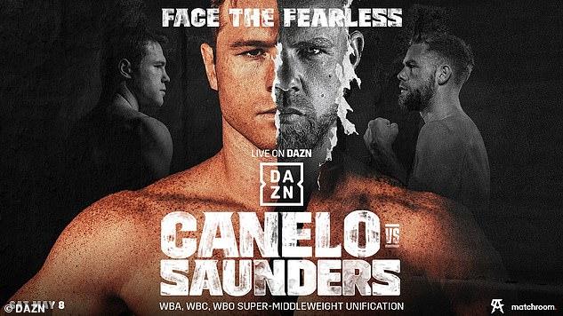 Canelo y Saunders se enfrentarán en un mega enfrentamiento de peso súper mediano en vivo por DAZN