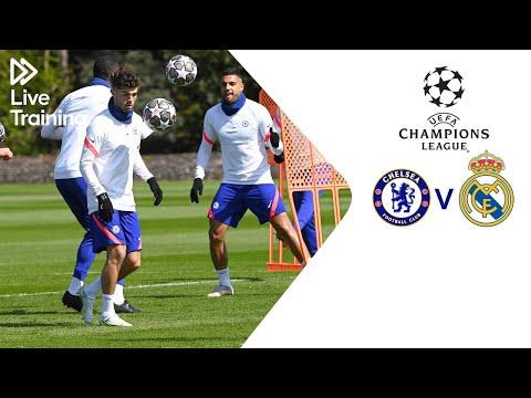 Entrenamiento en vivo del Chelsea |  Chelsea v Real Madrid |  Liga de Campeones de la UEFA